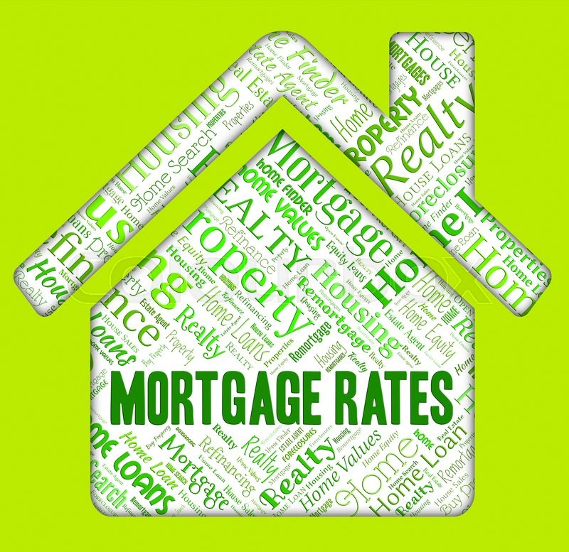 Mortgage Rates Indicating Home Loan And Figures, stock photo