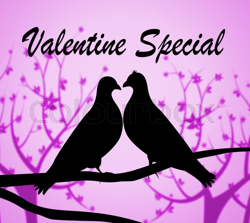 Stock image of 'Valentine Special Indicates Valentines Day And Bargains'