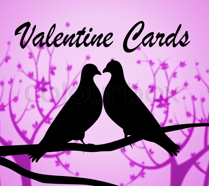 Stock image of 'Valentine Cards Representing Valentines Day And Greeting'