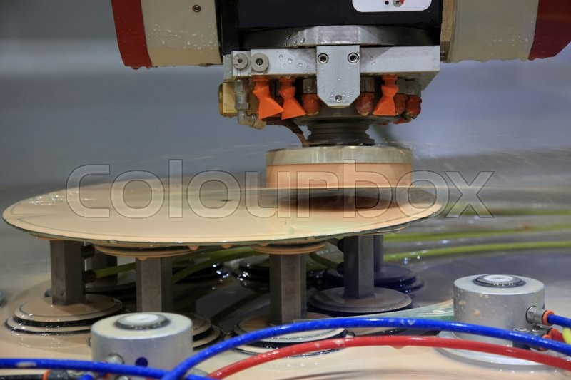 Stock image of 'Special machine for polishing glass and ceramic plates'