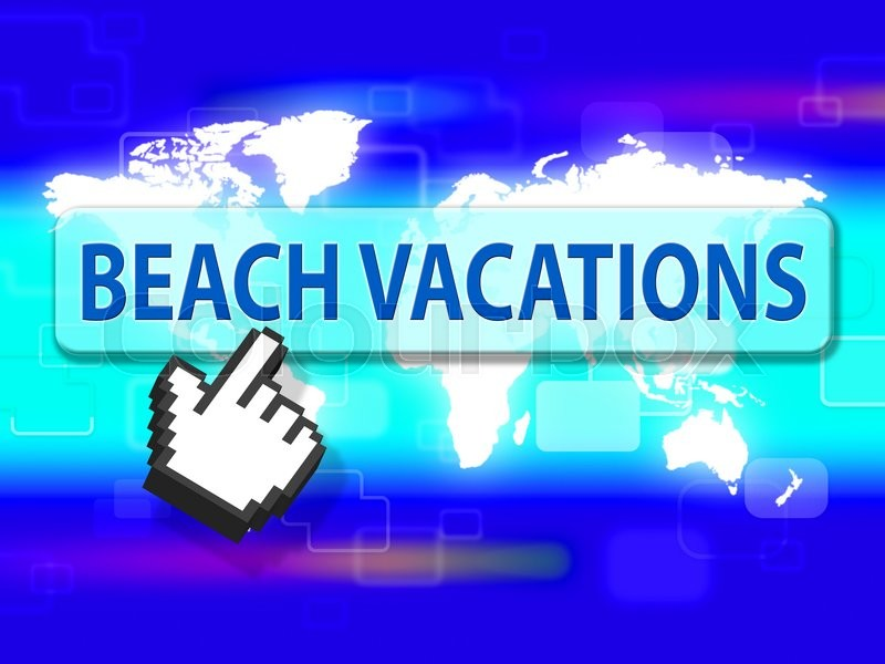 Stock image of 'Beach Vacations Shows Holiday Seafront And Coasts'