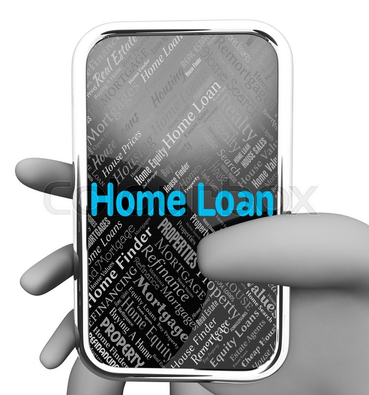 Stock image of 'Home Loan Showing Websites Borrows And Web'