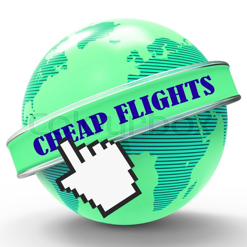 Stock image of 'Cheap Flights Represents Reduction Sale And Promo'