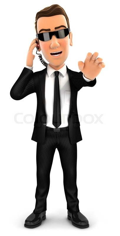 Stock image of '3d security agent stop gesture, isolated white background'