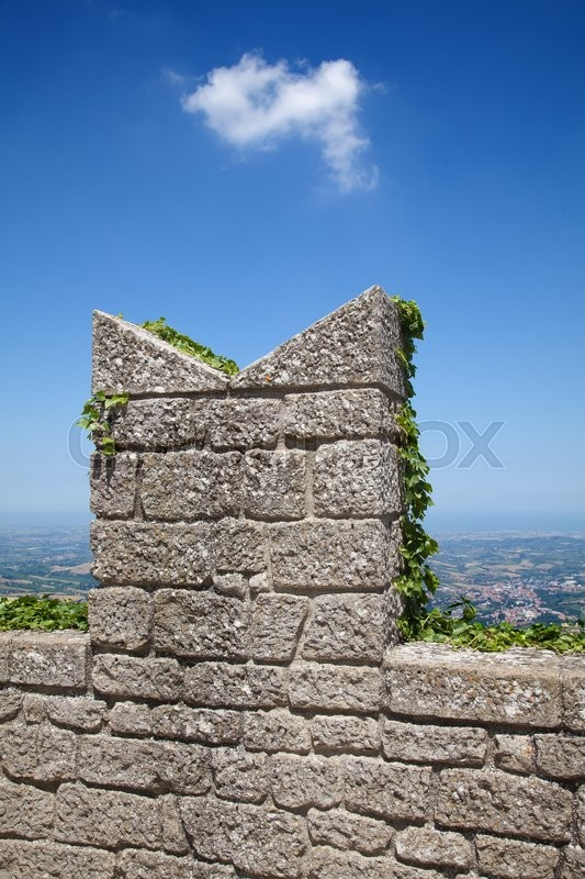 Stock image of 'Ancient fortifications of the San Marino'
