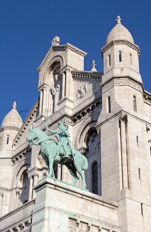 Stock image of 'Famous Basilica of the Sacred Heart of Paris'