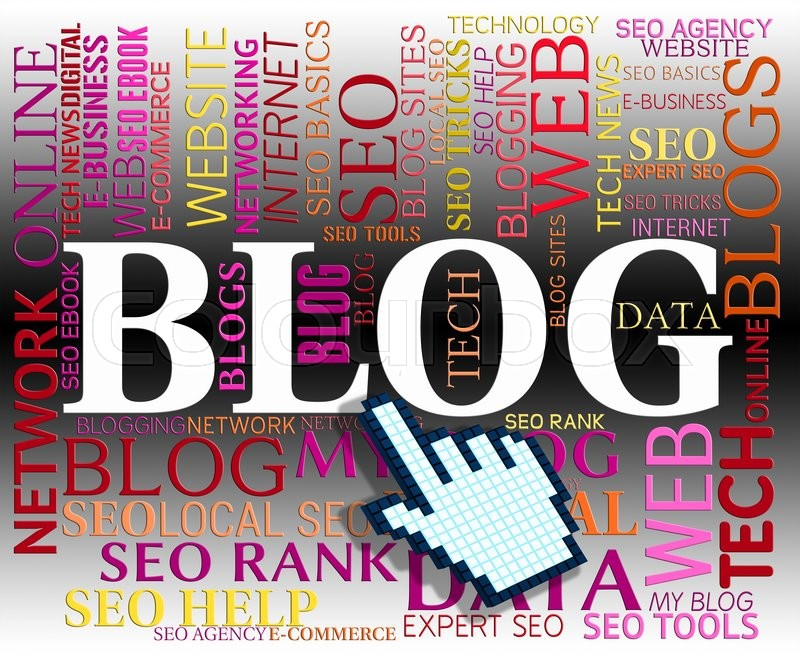 Stock image of 'Blog Word Indicating Web Site And Websites'