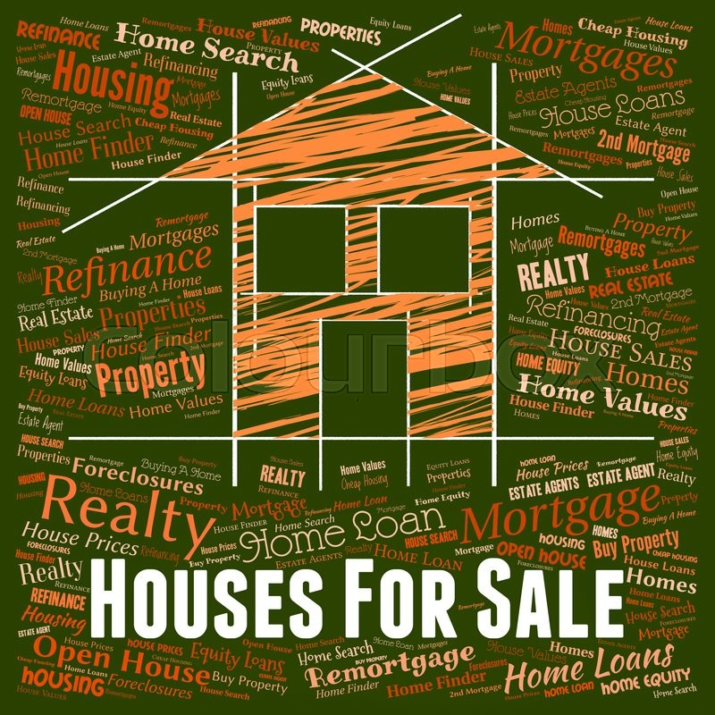 Stock image of 'Houses For Sale Representing On Market And Homes'