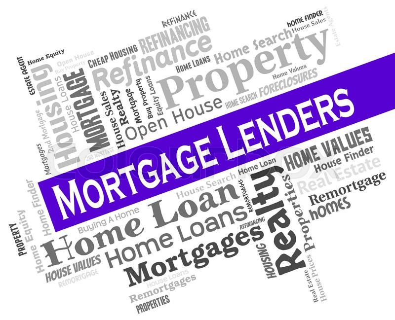 Stock image of 'Mortgage Lenders Indicates Home Loan And Banking'