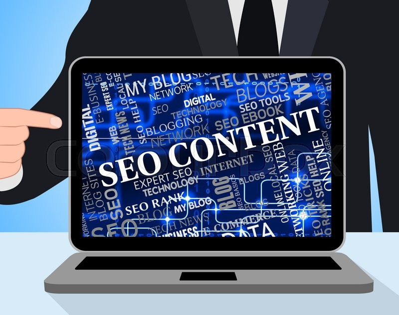 Stock image of 'Seo Content Representing Search Engines And Optimizing'