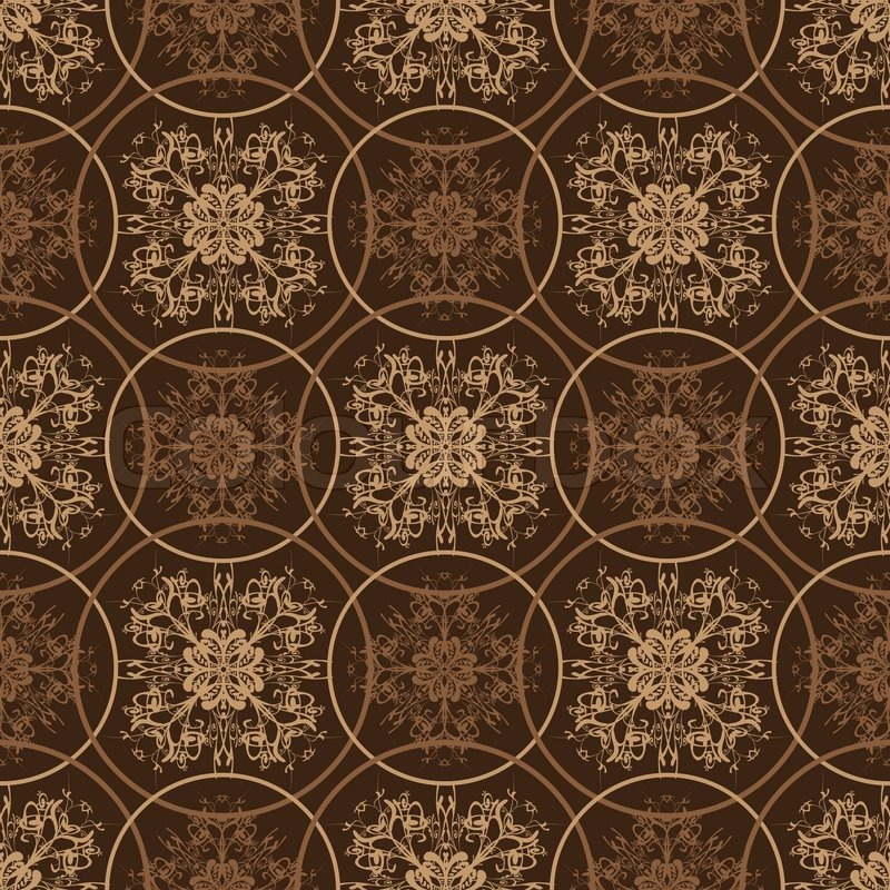 Retro Styled Seventies Wallpaper Seamless Fit Background Pattern