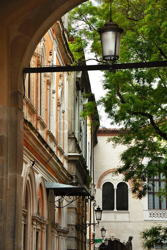 Architecture details of Padua Italy street light in arch of old building | Stock Photo | Colourbox & Architecture details of Padua Italy street light in arch of old ... azcodes.com