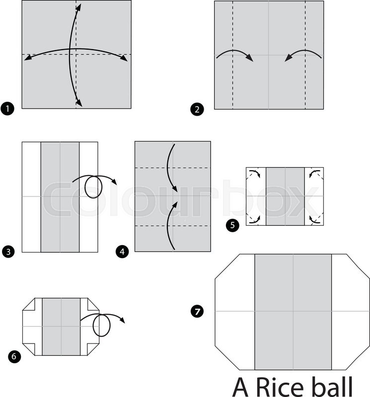 Step By Instructions How To Make Origami A Rice Ball