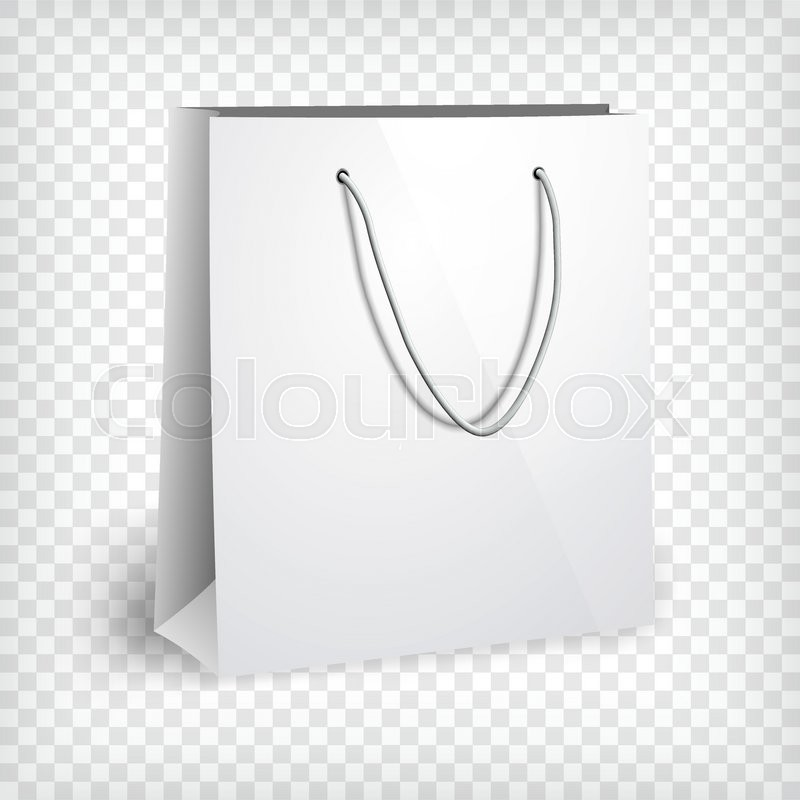 Blank paper bag template. Shopping bag, photo realistic template ...