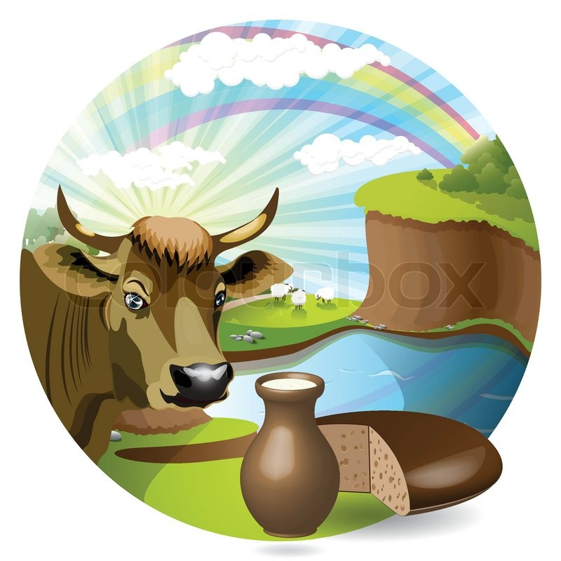 Milk Cow Vector Milk And Cow Vector