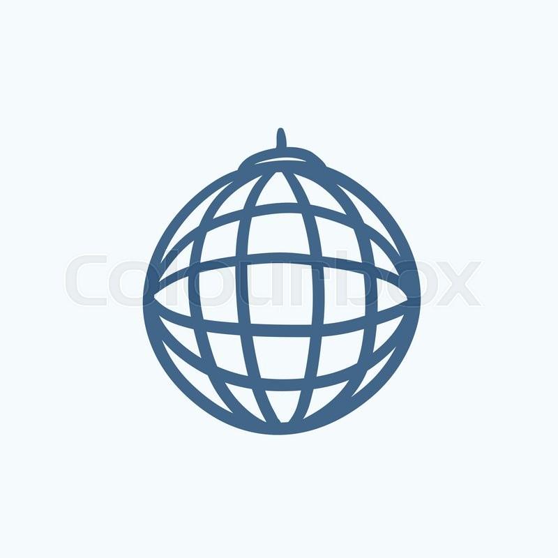 disco ball vector sketch icon isolated on background hand drawn rh colourbox com disco ball vector ai disco ball vector icon