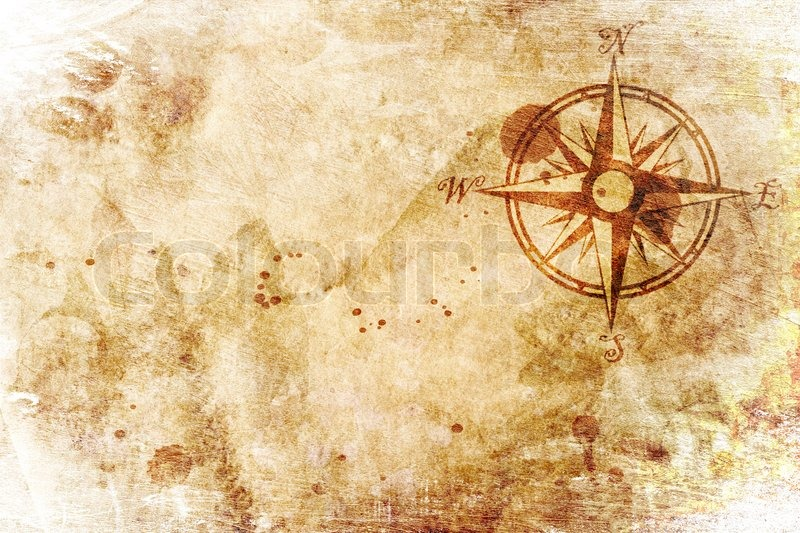 Old Map With A Compass On It Stock Photo Colourbox