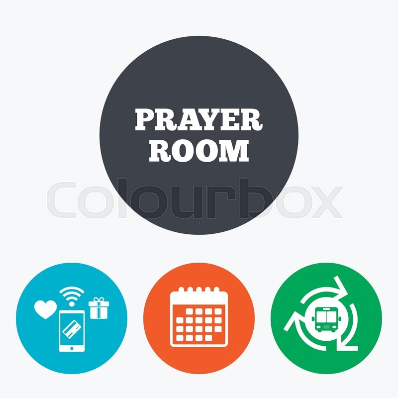 Prayer Room Sign Icon Religion Priest Faith Symbol Mobile Payments