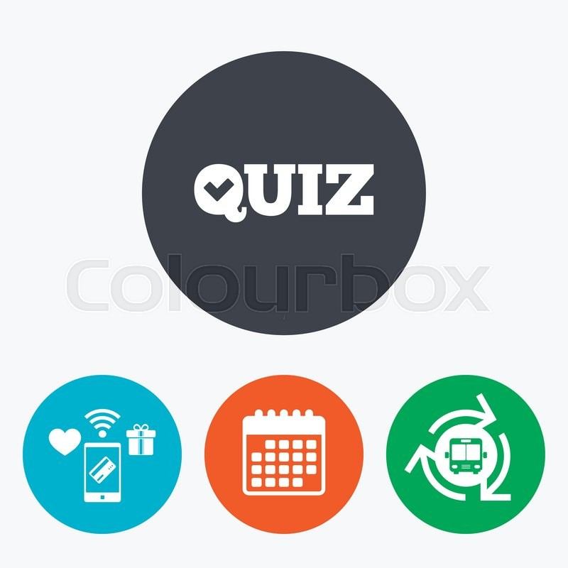 Quiz Check Sign Icon Questions And Answers Game Symbol Mobile
