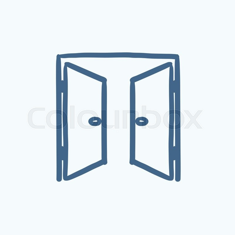 Open doors vector sketch icon isolated on background. Hand drawn Open doors icon. Open doors sketch icon for infographic website or app.  sc 1 st  Colourbox & Open doors vector sketch icon isolated on background. Hand drawn ...