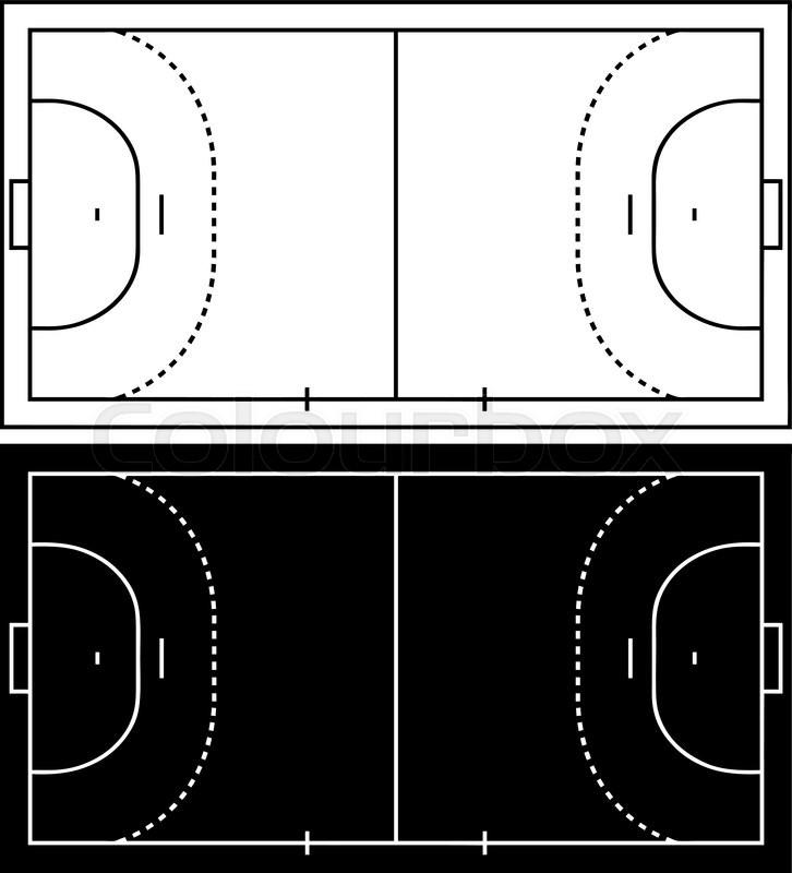 Handball Court Isolated On White Stock Vector Colourbox