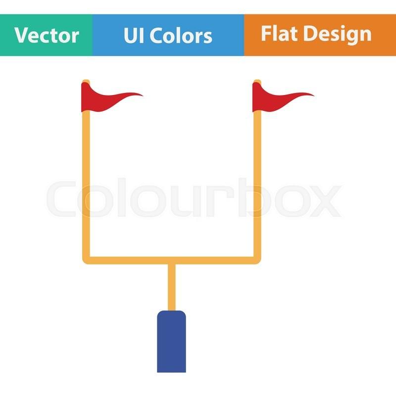 American Football Goal Post Icon Flat Stock Vector Colourbox