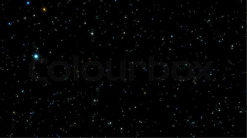 black night sky with bright stars constellation vector