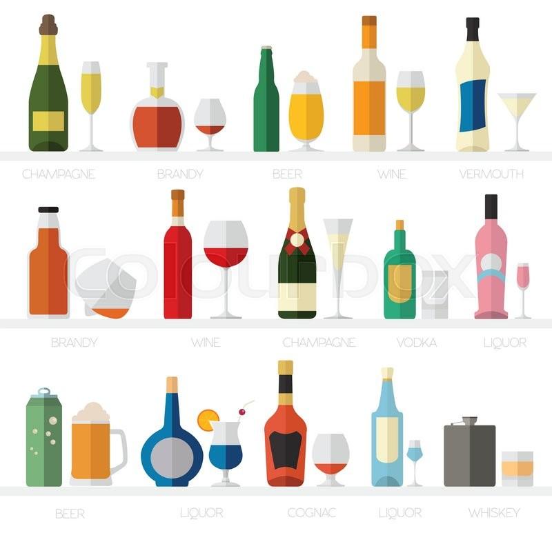 Alkohol, getränke, symbol | Vektorgrafik | Colourbox