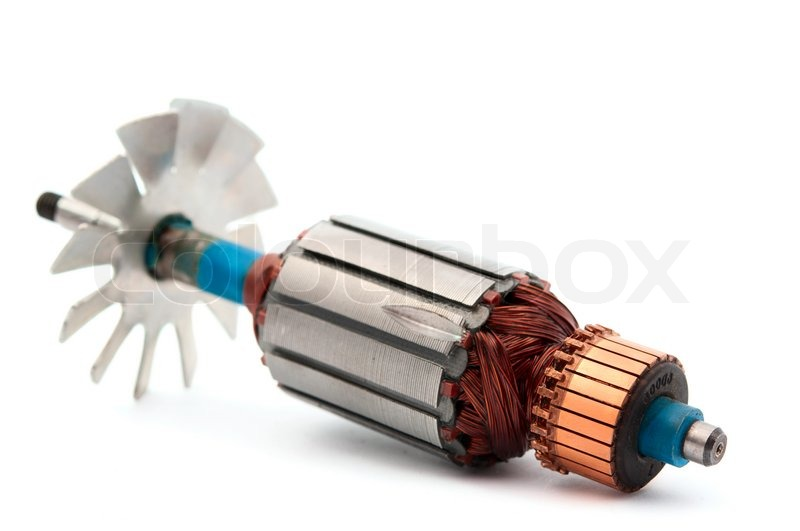 Copper Coils Inside Electric Motor On A