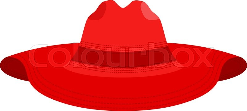 1d23e00f071 Vector illustration of a female red ...