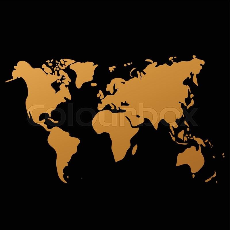 Vector world map on black background doodle world map vector stock vector of vector world map on black background doodle world map vector gumiabroncs Images
