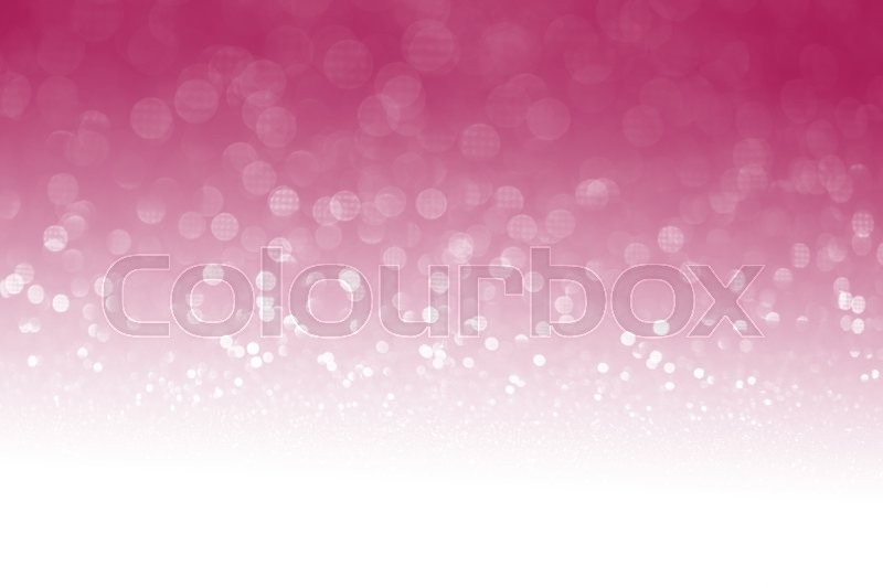 Pink glitter surface with pink light bokeh with white empty copy space - It can be used for background for special occasions promotion campaign or product display, stock photo