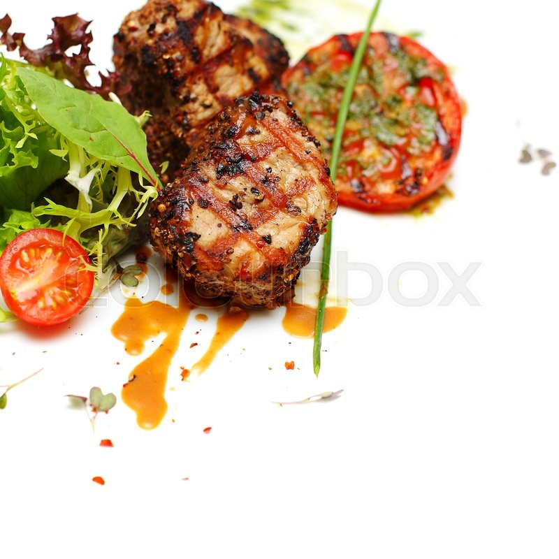 Gourmet food - steak meat, background, stock photo