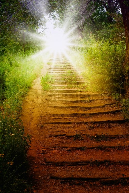 staircase with sun  way to heaven