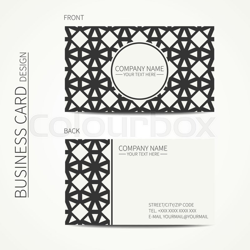 Vector simple business card design template black and white stock vector of vector simple business card design template black and white colourmoves