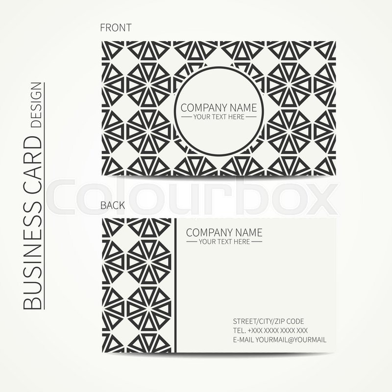 vector simple business card design template black and white business card for corporate business and personal use trendy calling card