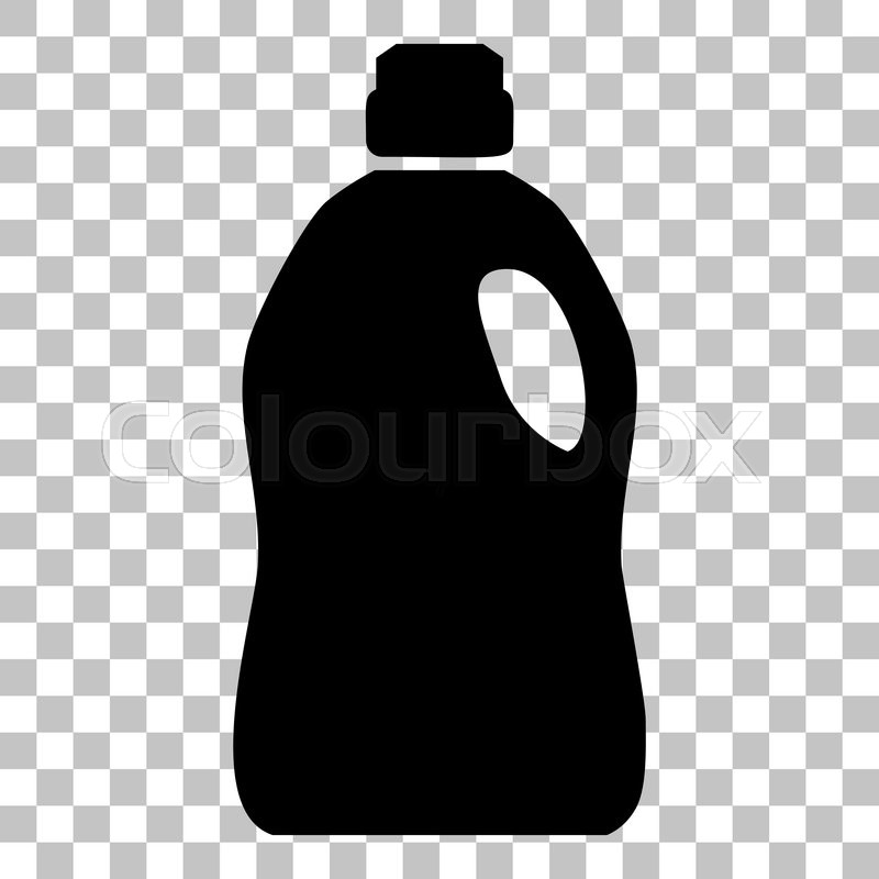 Plastic Bottle For Cleaning Flat Style Black Icon On