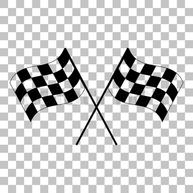 Finish Line Motors >> Crossed checkered flags logo waving in the wind conceptual of motor sport. Flat style black icon ...