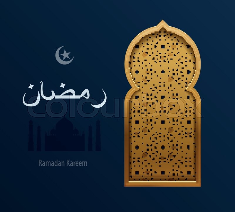 Stock vector illustration gold arabesque background ramadan stock vector illustration gold arabesque background ramadan greeting happy month ramadan arabic background arabic window silhouette mosque m4hsunfo