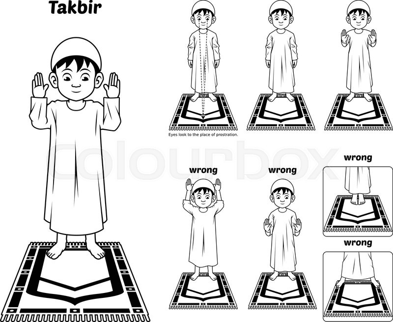 This Image Is A Muslim Prayer Position Guide Step By Step Perform By
