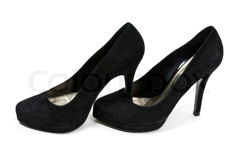 højhælede sko sort