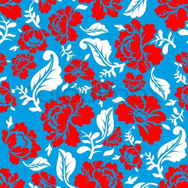 Russian national flower pattern colors of russia flag tricolor russian national flower pattern colors of russia flag tricolor red blue and white patriotic floral ornament historic traditional decorative cultural mightylinksfo
