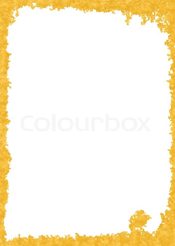 Frame from old paper on white background | Stock Vector | Colourbox