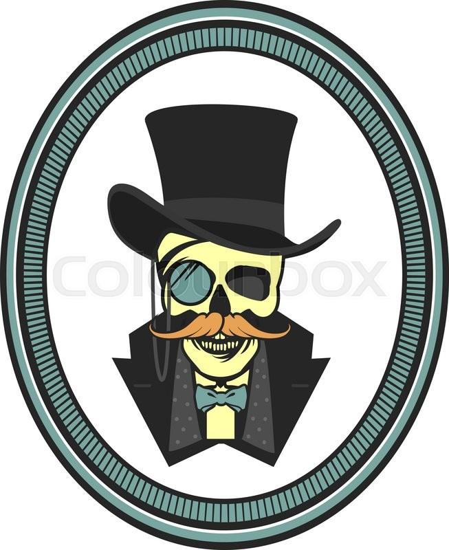 199e3bb039913 Vector illustration of a skull wearing ...