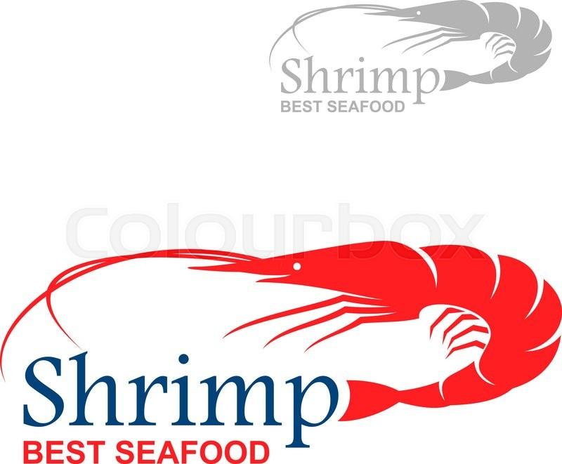 royal red shrimp icon with caption shrimp and best seafood rh colourbox com shrimp logo free shrimp logowanie