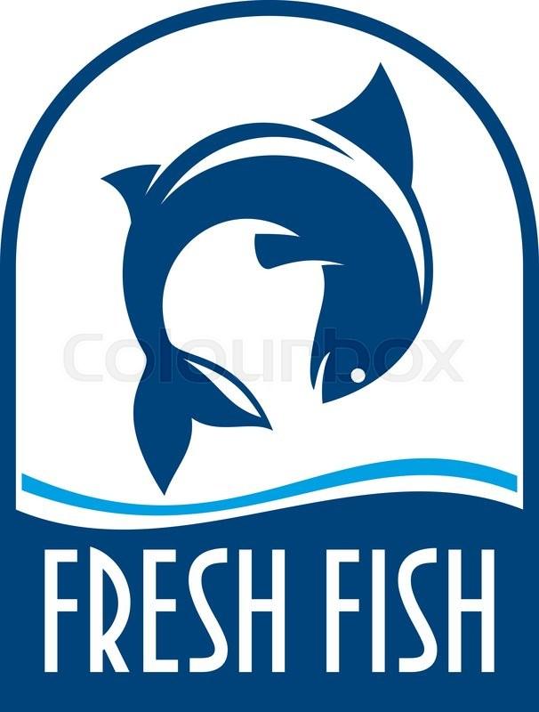 Fresh Fish Retro Stylized Symbol For Seafood Restaurant Or Fish