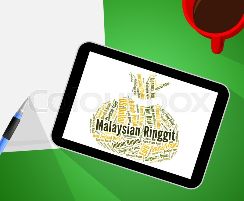 Stock image of 'Malaysian Ringgit Represents Currency Exchange And Coinage'