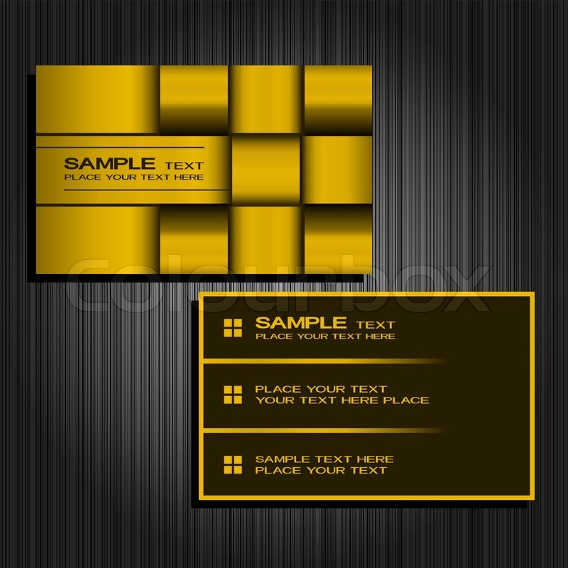 Vector abstract creative business cards (set template) | Stock ...