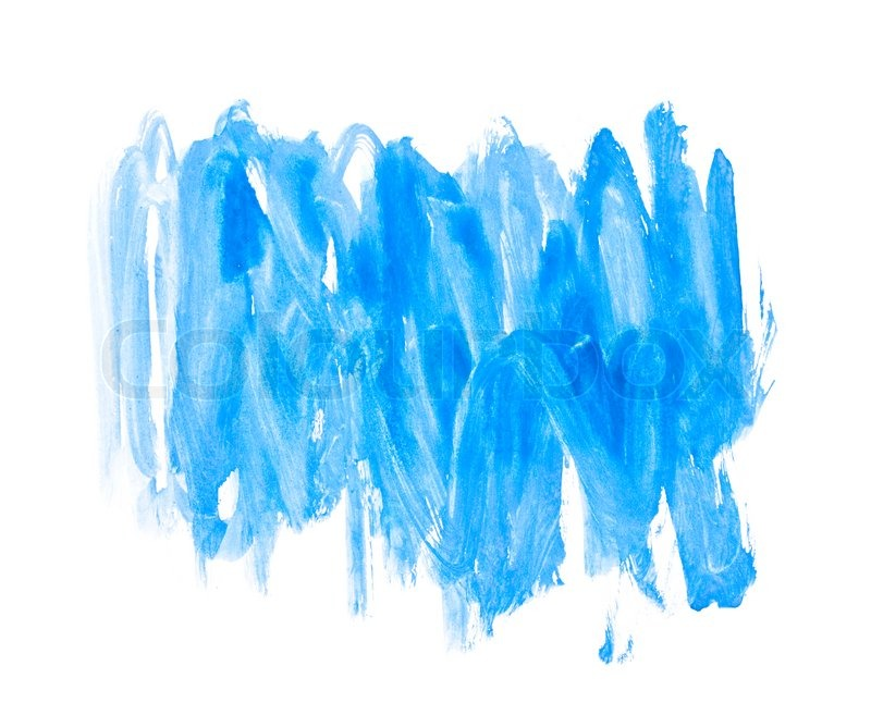 Blue Water Color Paint Texture Stock Photo Colourbox