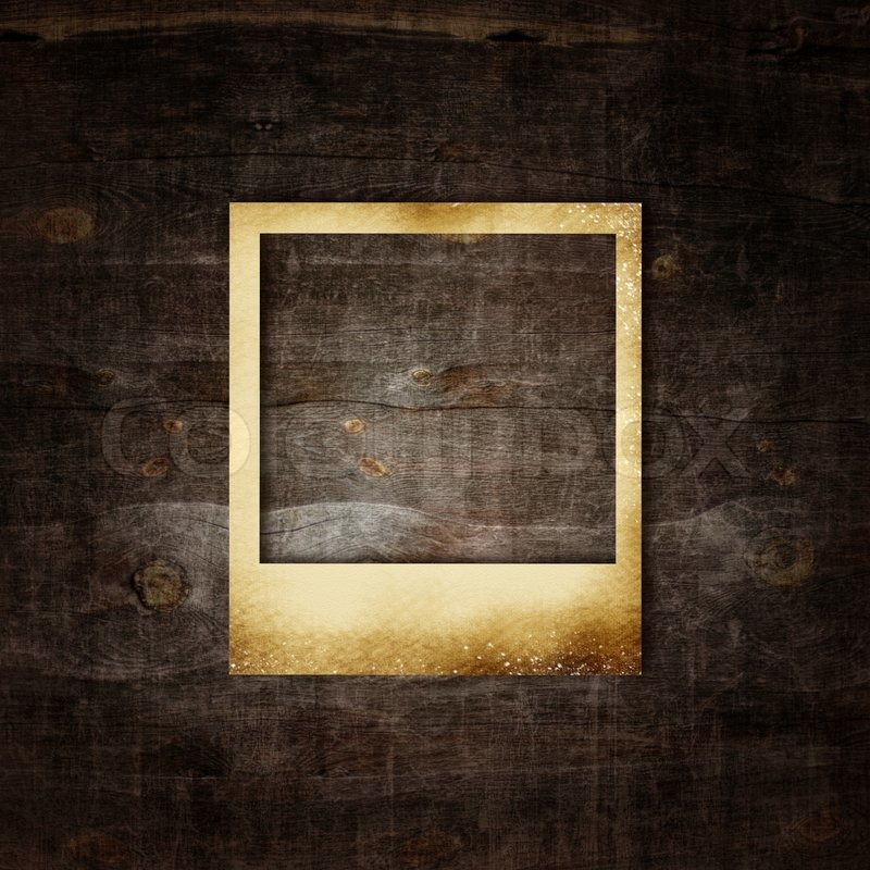 Old Photo Frame On Wooden Background Stock Photo Colourbox